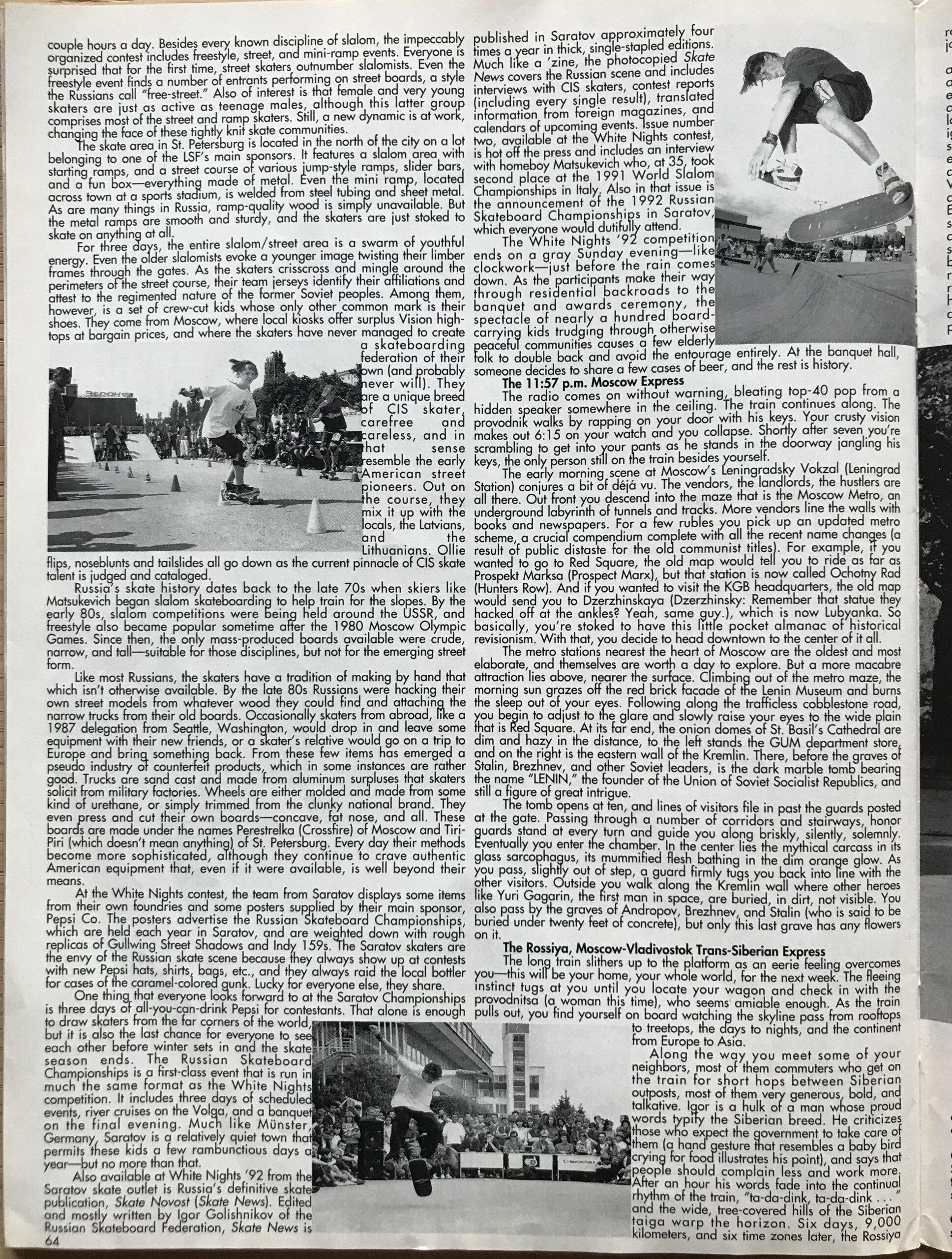 TWS April 1993 64 lpp Janis Birznieks